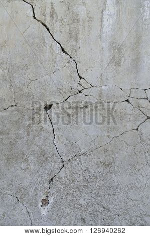 Broken cement Floor texture of gray color