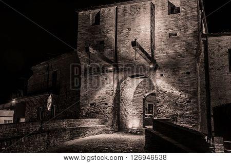 The Malatesta castle of Mondaino (Rimini), Italy