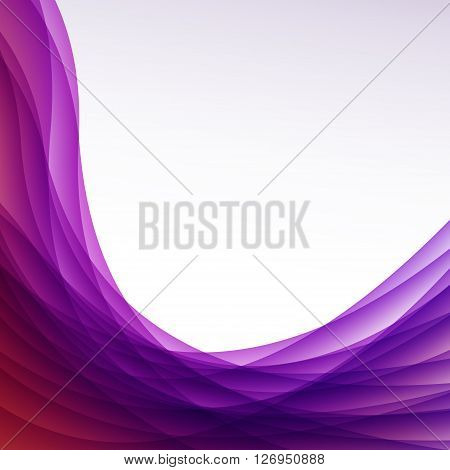 Abstract Background With Wave. Vector Illustration