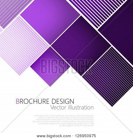 Abstract Square Purple Background. Vector Illustration