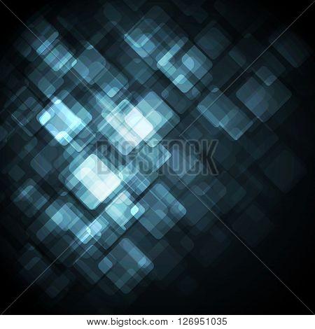 Blue Modern Business Card Set. Vector
