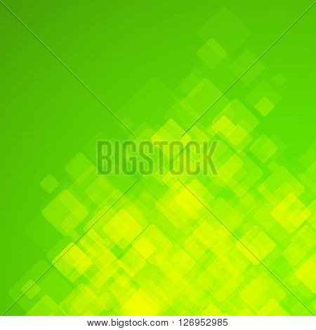 Abstract Square Green Background. Vector Illustration