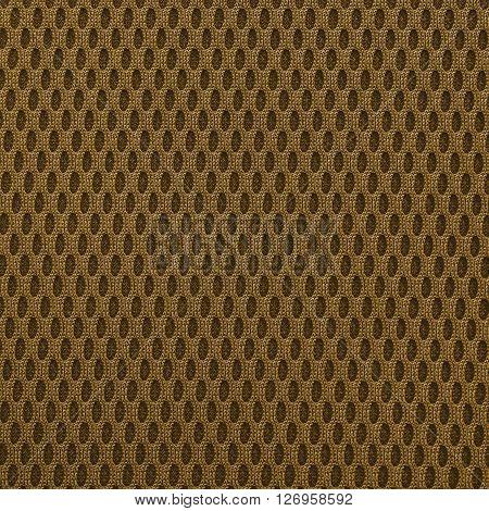 Chocolate multilayer fiber fabric texture. Close up top view.