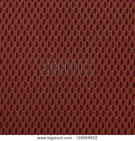Tomato red multilayer fiber fabric texture. Close up top view.