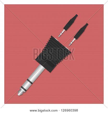 Audio splitter. Vector illustration. EPS 10 opacity