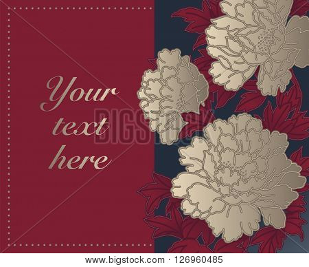 Card with Chinese Chrysanthemums