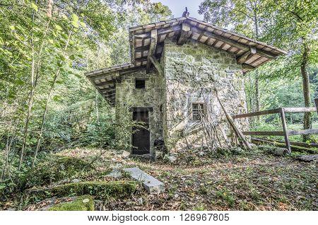Italy Udine San Leonardo del Friuli - walking through the village forests rivers and waterfalls in the municipality of San Leonardo
