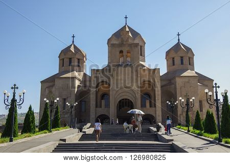 Yerevan, Armenia - Septembr 14, 2013: Cathedral of St. Gregory the Illuminator. Yerevan Armenia (Gregory the Illuminator)