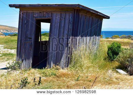 Dilapidated shack at an abandoned ranch taken in Santa Rosa Island, CA