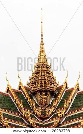 Golden Traditional Thai Temple Architecture, Bangkok Thailand