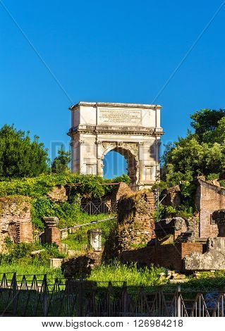 Arch of Titus in the Roman Forum, Rome, Italy