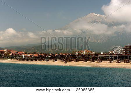 Mediterranean cost next to Kiris, Kemer, Turkey in the spring