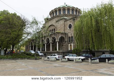 Sofia, Bulgaria - April 14, 2016: St Nedelya Church (nagia Nedelja) , Holy Sunday Church Is An Easte