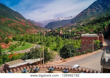 Ourika Valley is just 30km away from Marrakesh, beautiful unspoiled nature under the mountain of Atlas.