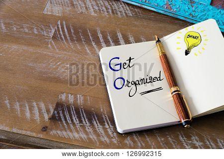 Business Acronym Go Get Organized