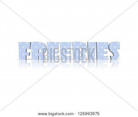 freebies - 3D Word with Reflection !