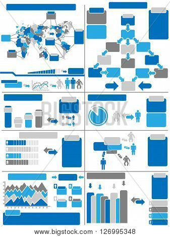 INFOGRAPHIC DEMOGRAPHICS BLUE for web and other