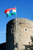 Barbican bastion of Pecs in Hungary. Pecs Hungary - World Heritage Site by UNESCO poster