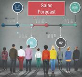 Sales Forecast Strategy Planning Vision Marketing Concept poster
