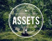 Assets Wealth Possession Money Resources Concept poster
