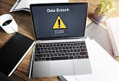 Data Breach Unsecured Warning Sign Concept poster