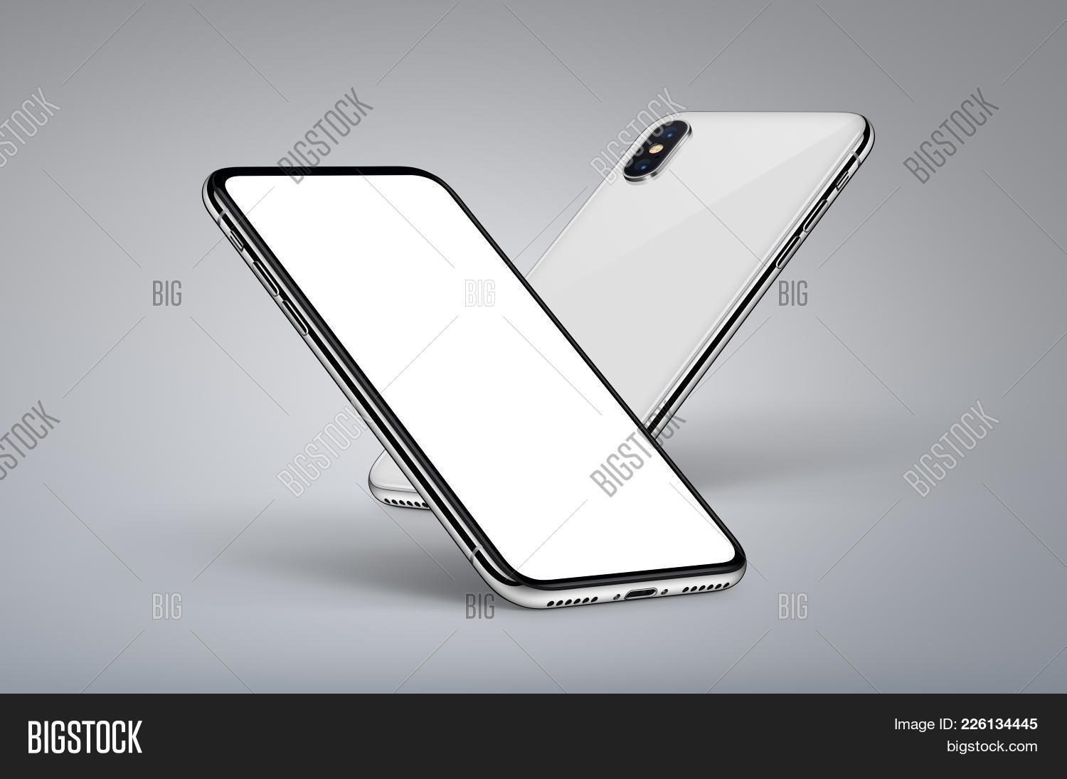Iphone X Style Perspective Powerpoint Template Iphone X Style