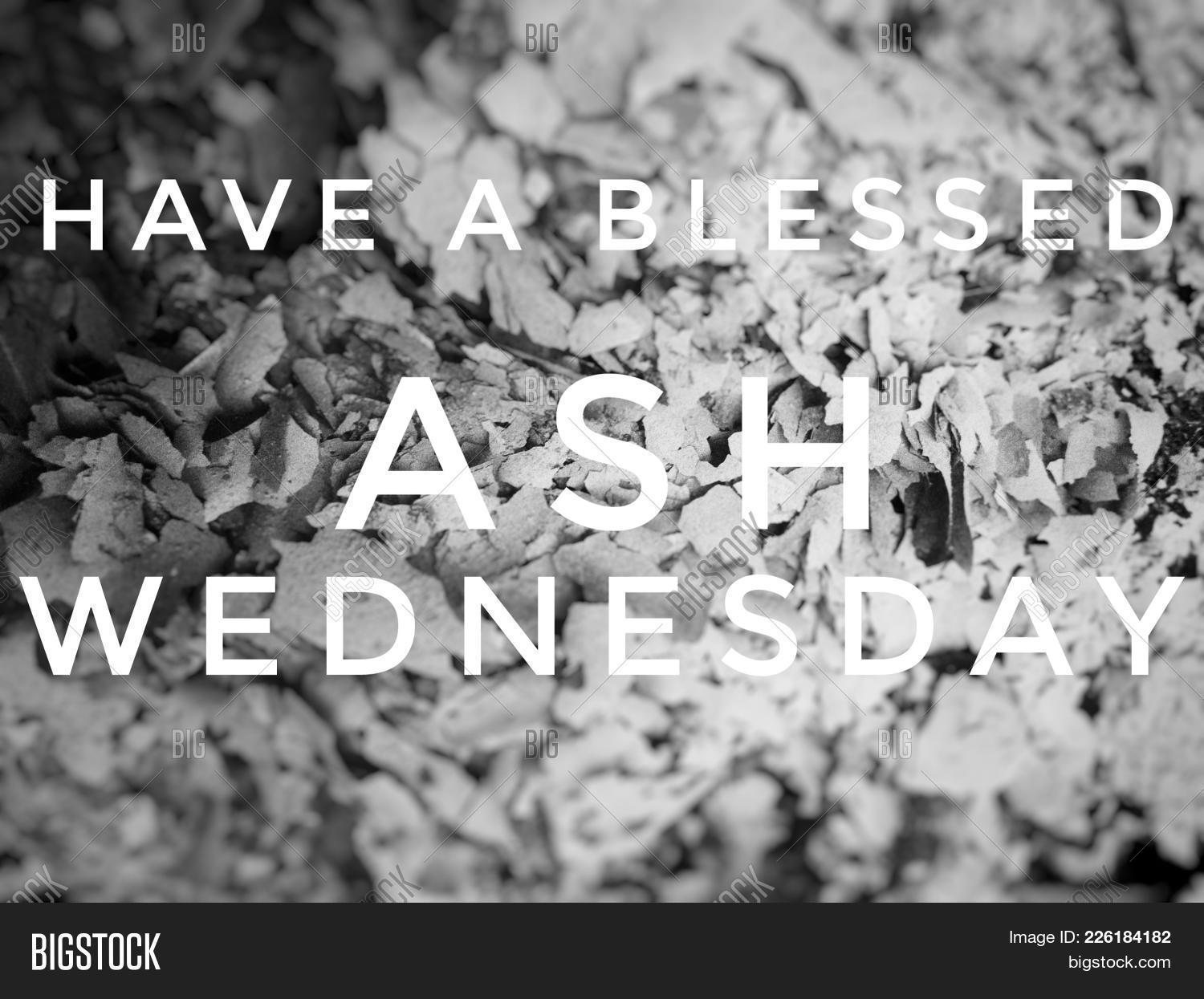 Greeting blessed ash image photo free trial bigstock greeting for the blessed ash wednesday celebration an event that roman catholic church all over m4hsunfo