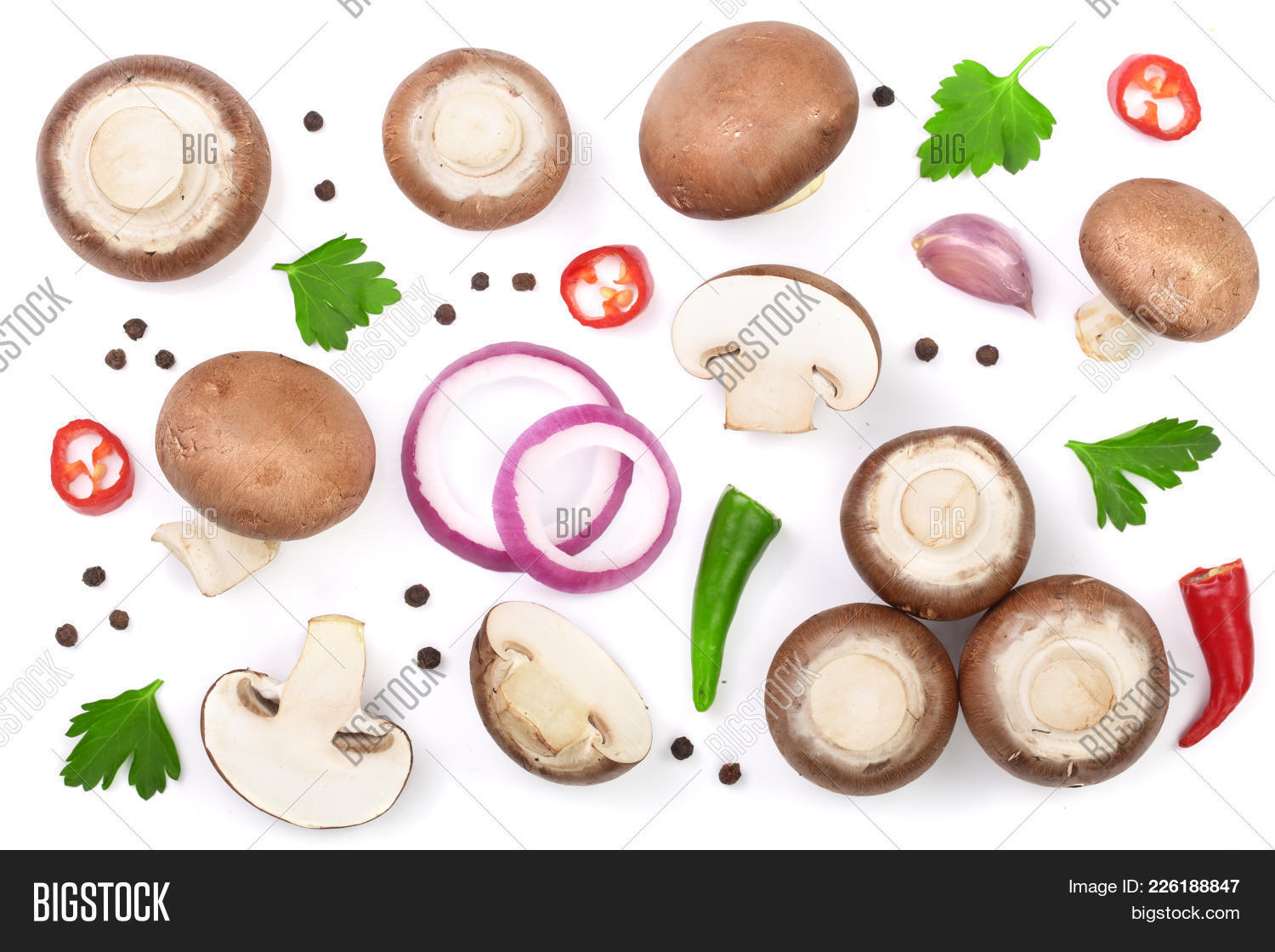 Collection mushrooms fresh champignon powerpoint template your text toneelgroepblik Image collections
