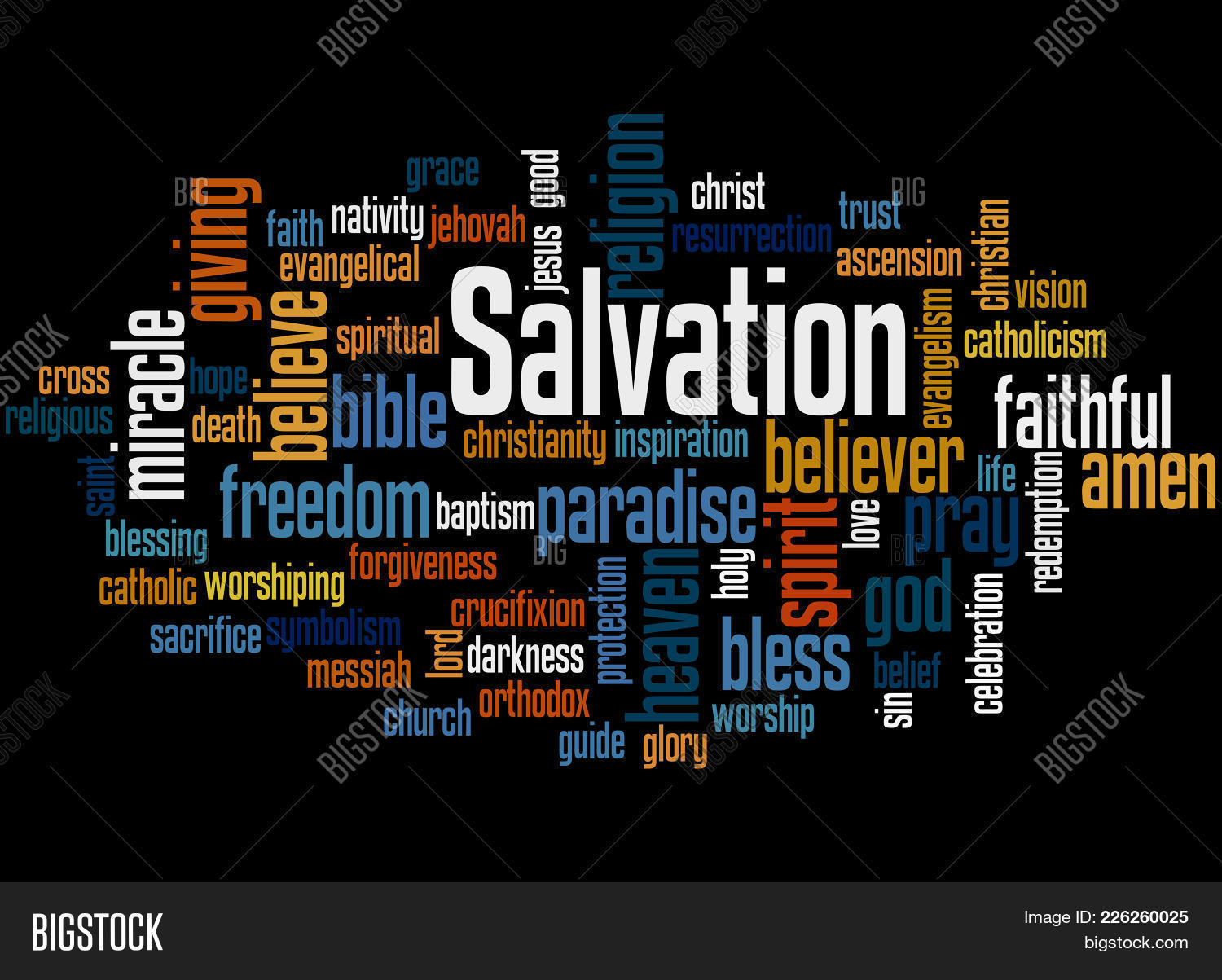 Salvation Word Powerpoint Template Powerpoint Template Salvation