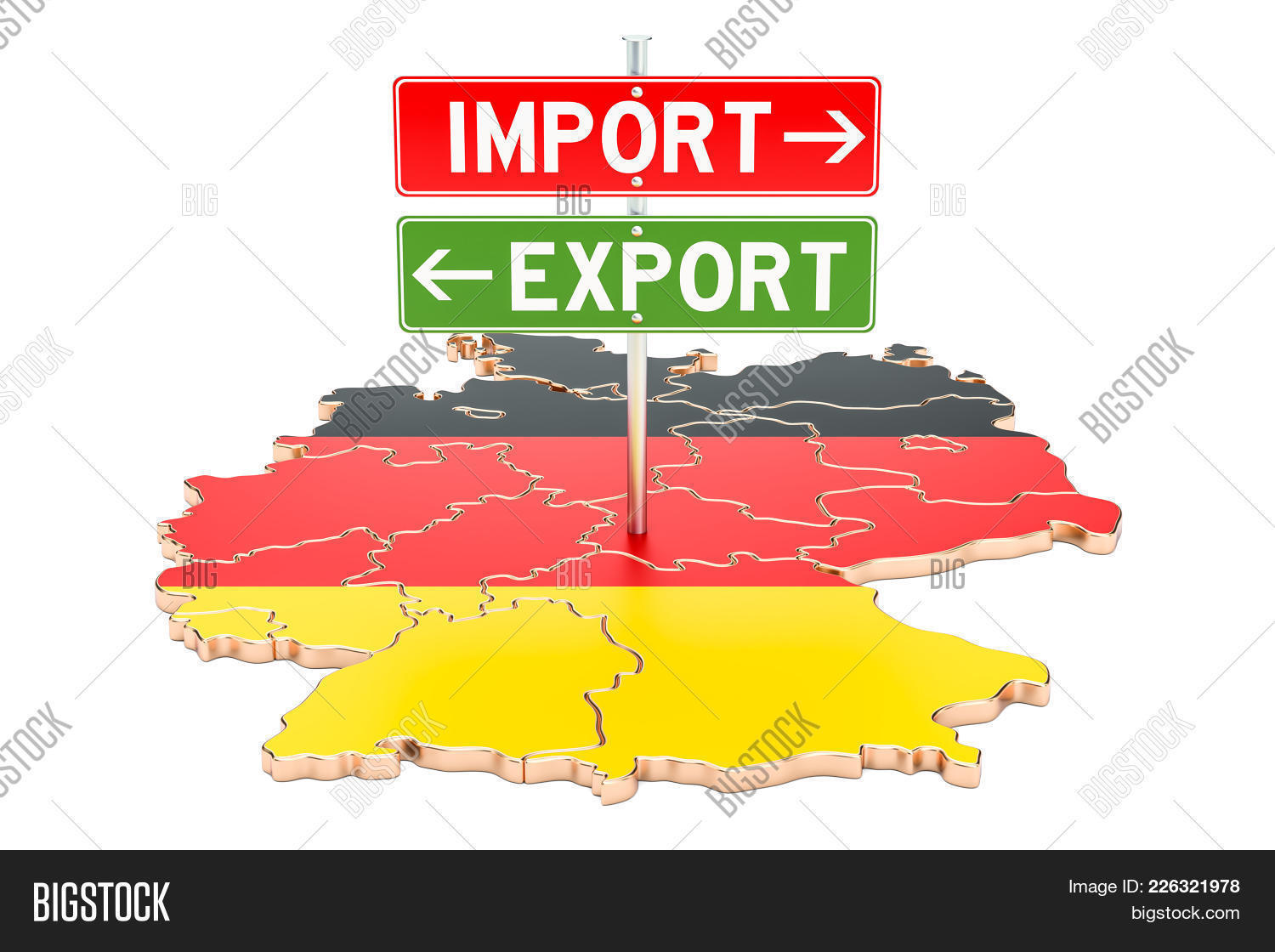 Import And Export In Germany Powerpoint Template Import And Export