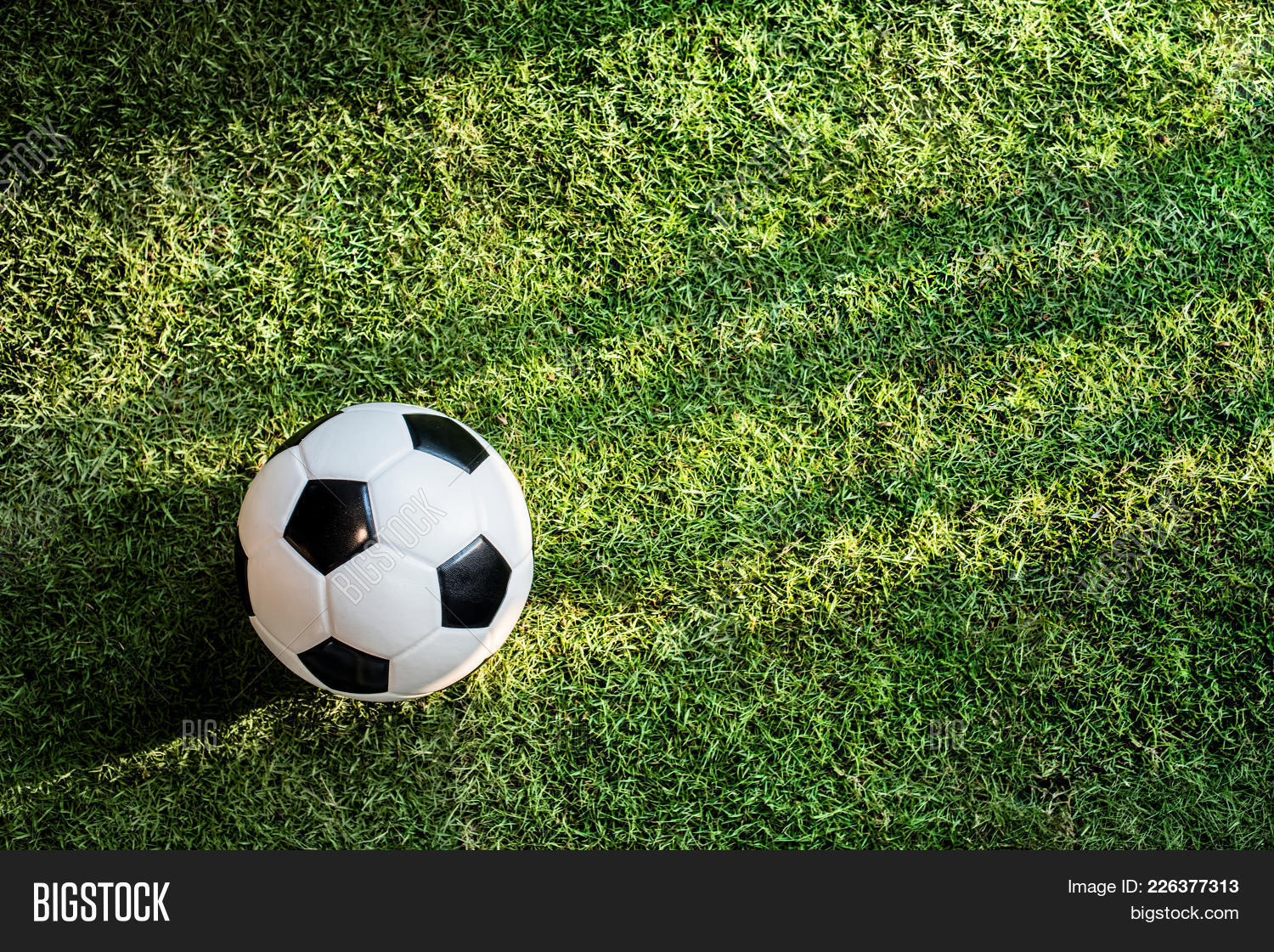 Football On Ground Powerpoint Template Football On Ground