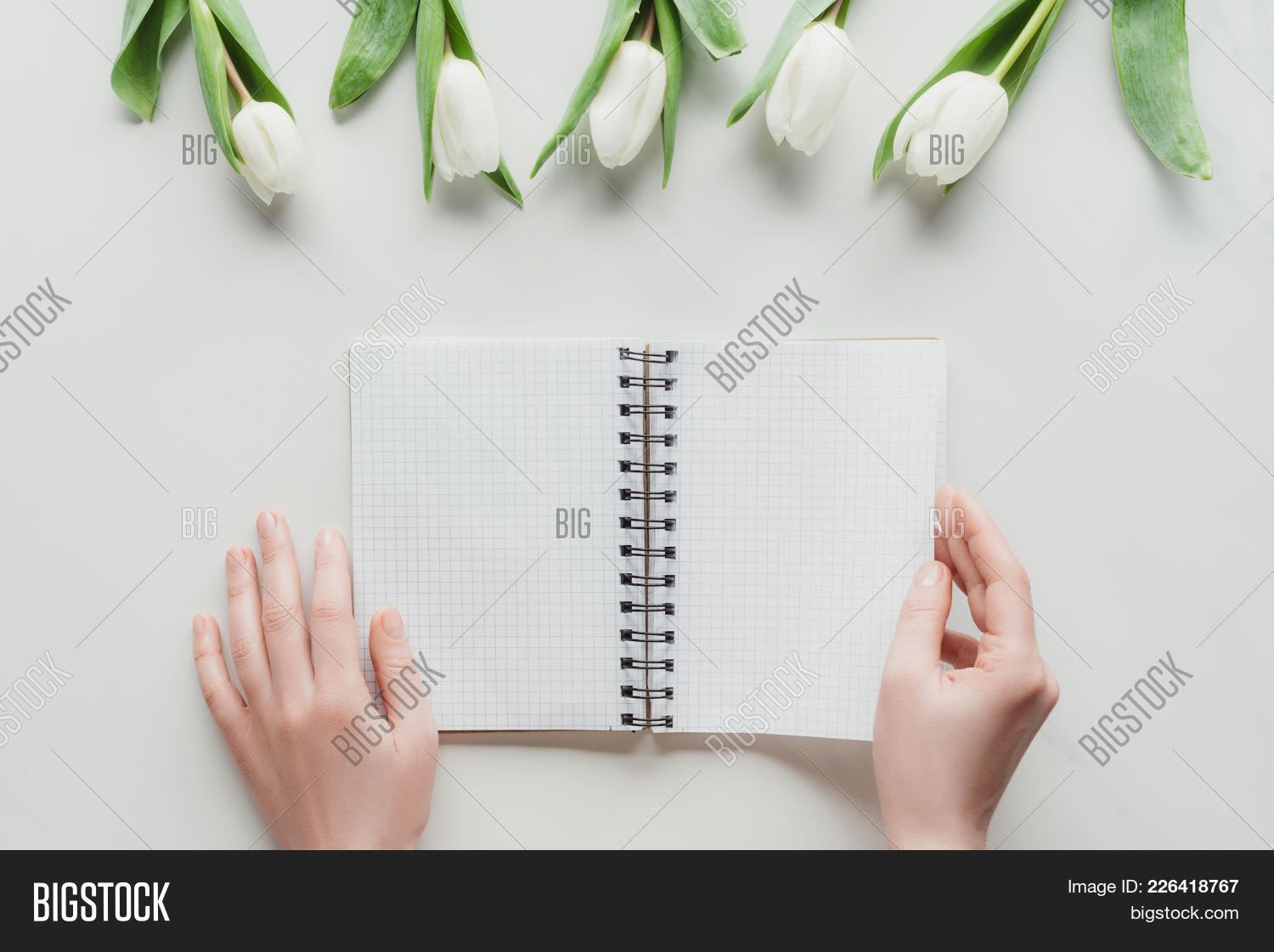 woman cropped view notebook powerpoint template woman cropped view