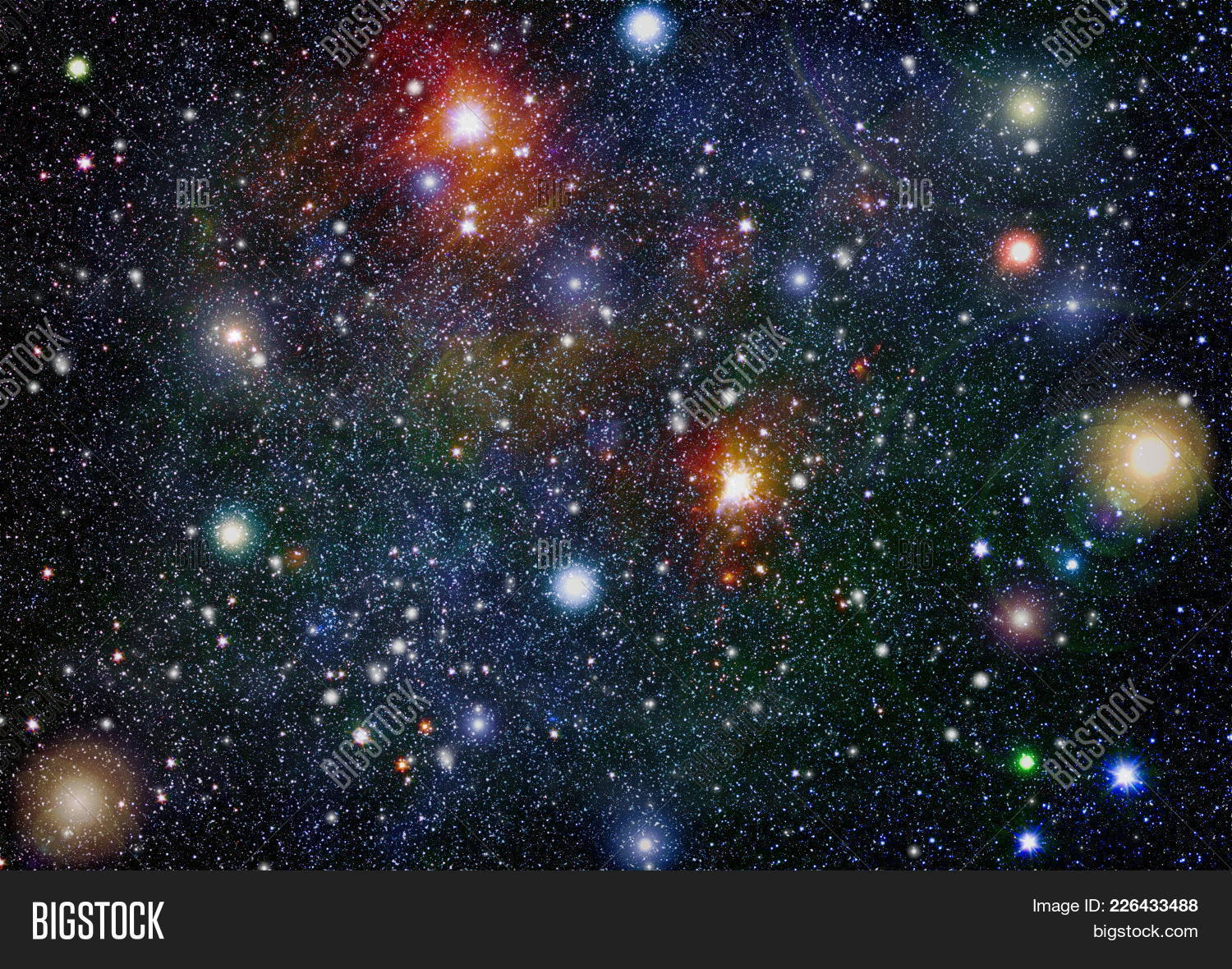 universe elements star galaxy powerpoint template universe