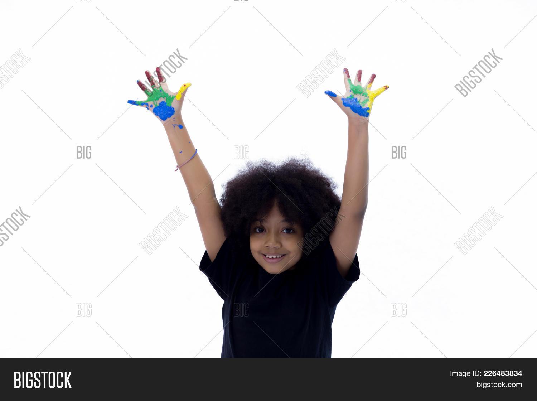 Preschooler african american playful powerpoint template y toneelgroepblik Image collections