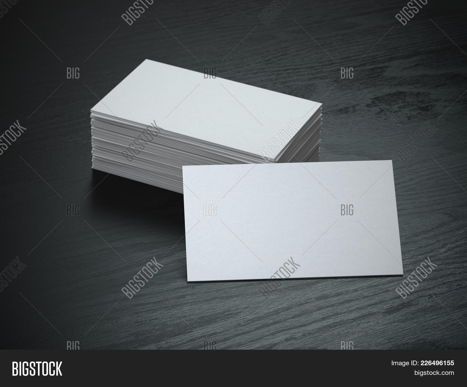 White blank business cards mockup image photo bigstock white blank business cards mockup on black wood table background 3d illustration reheart Choice Image