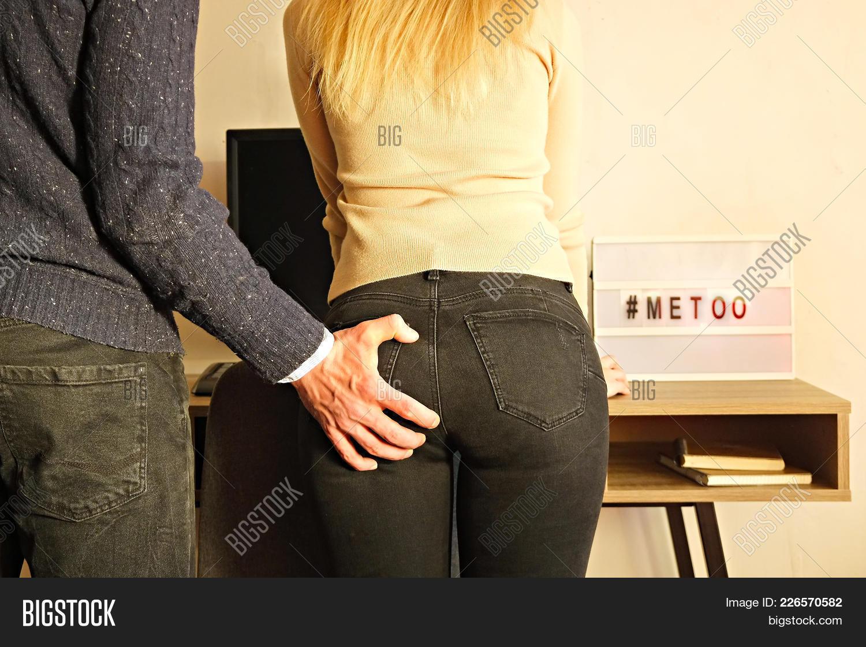 Ass Grope sexist businessman image & photo (free trial) | bigstock
