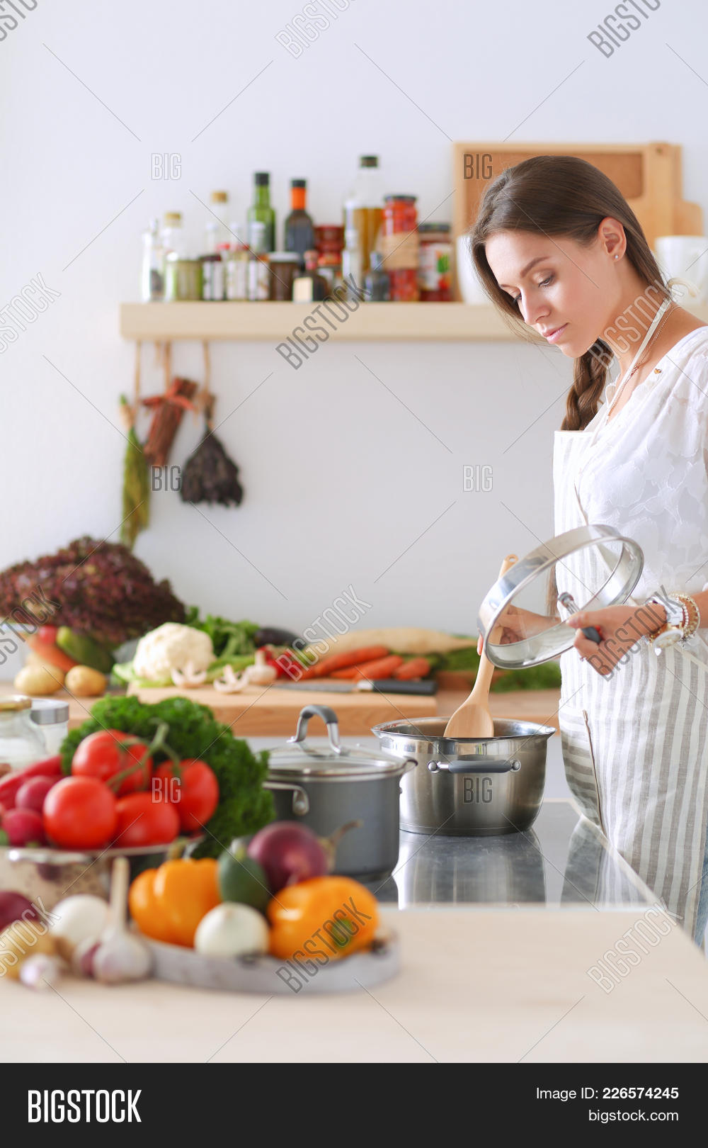 Cooking Woman Kitchen Image & Photo (Free Trial) | Bigstock