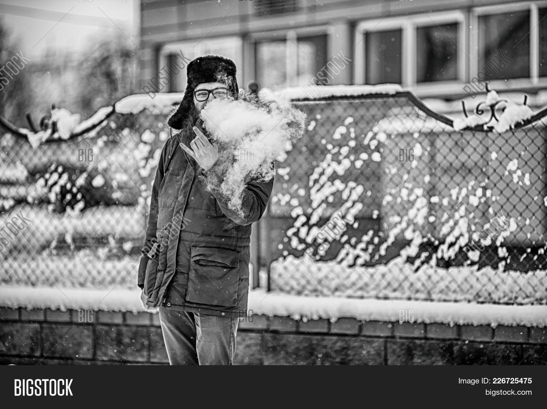 Vape Bearded Man Real Image & Photo (Free Trial)   Bigstock