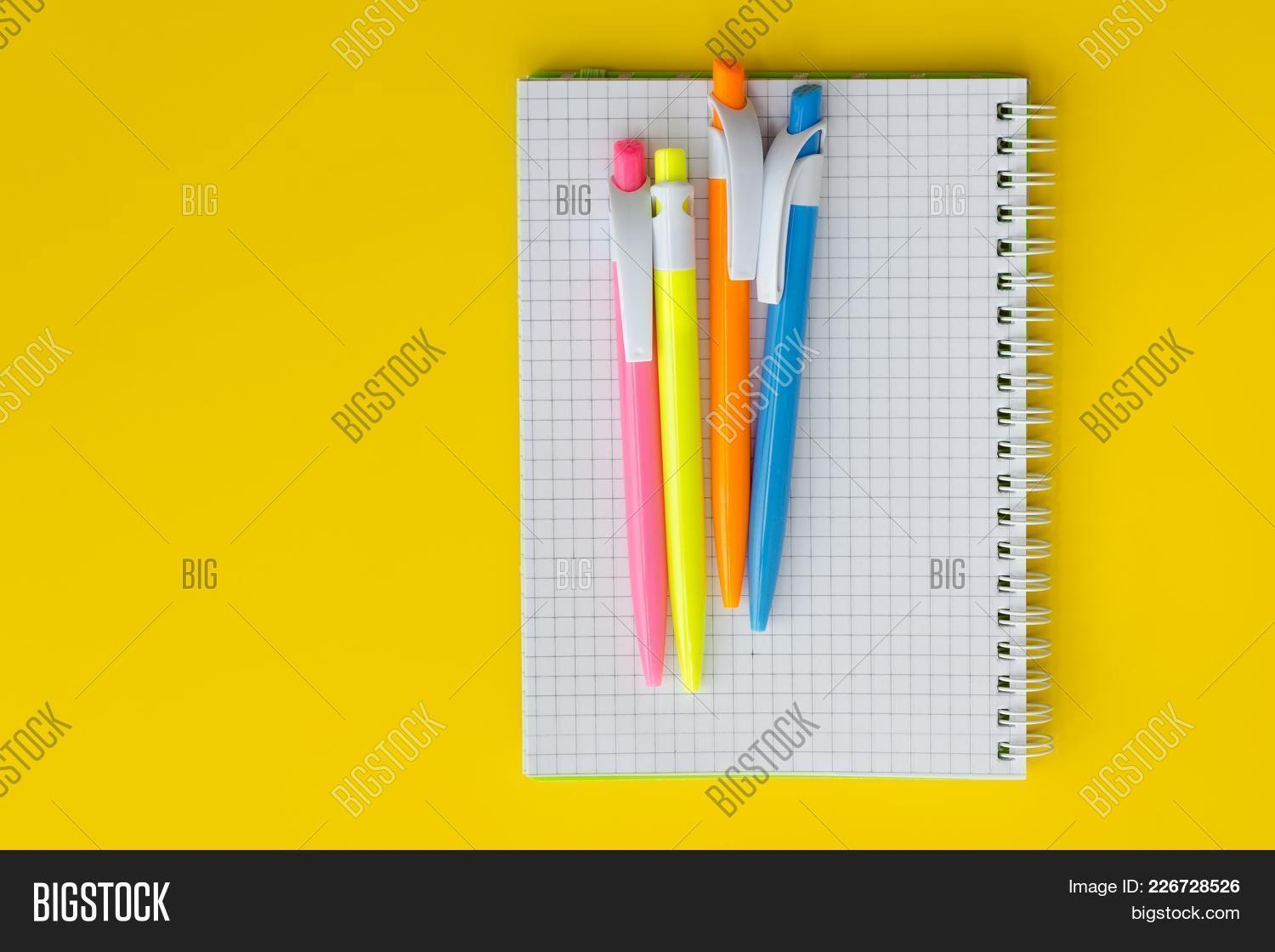 notebook with colored powerpoint template powerpoint template
