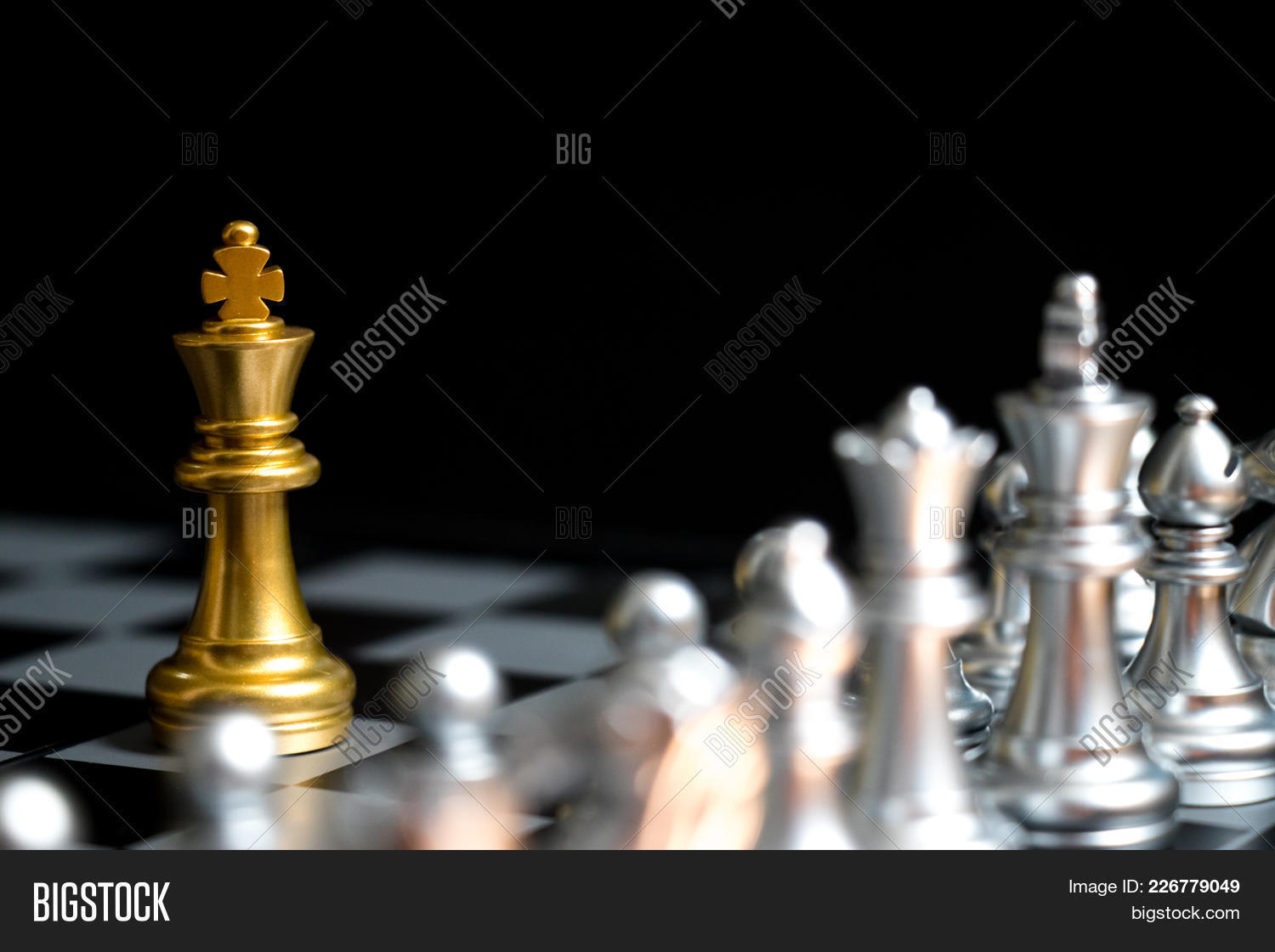Gold king in chess powerpoint template gold king in chess intelligence powerpoint template 60 slides toneelgroepblik Images