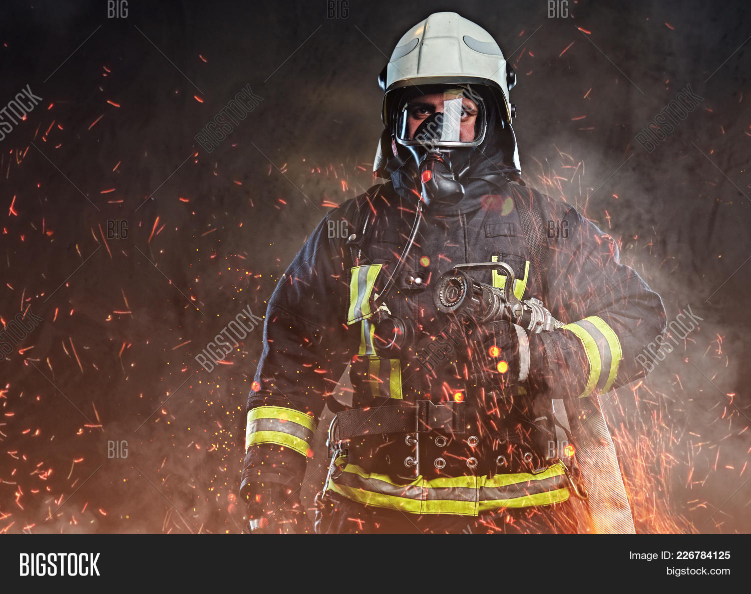 professional firefighter powerpoint theme powerpoint template