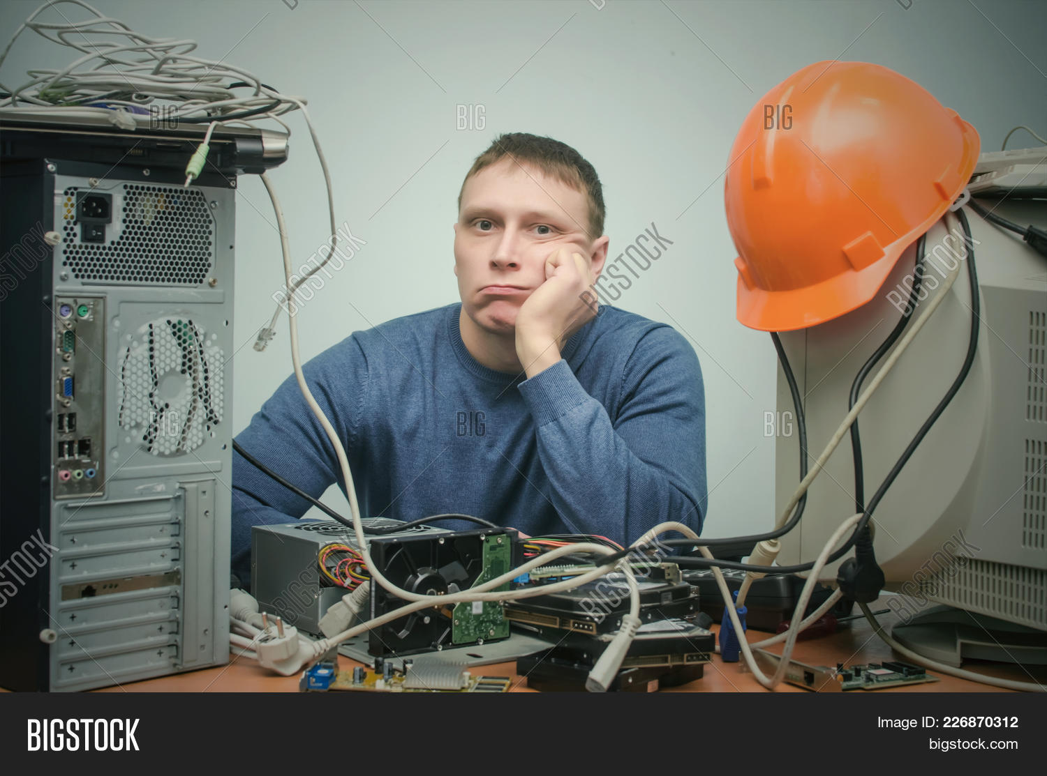 tired bored computer image photo free trial bigstock