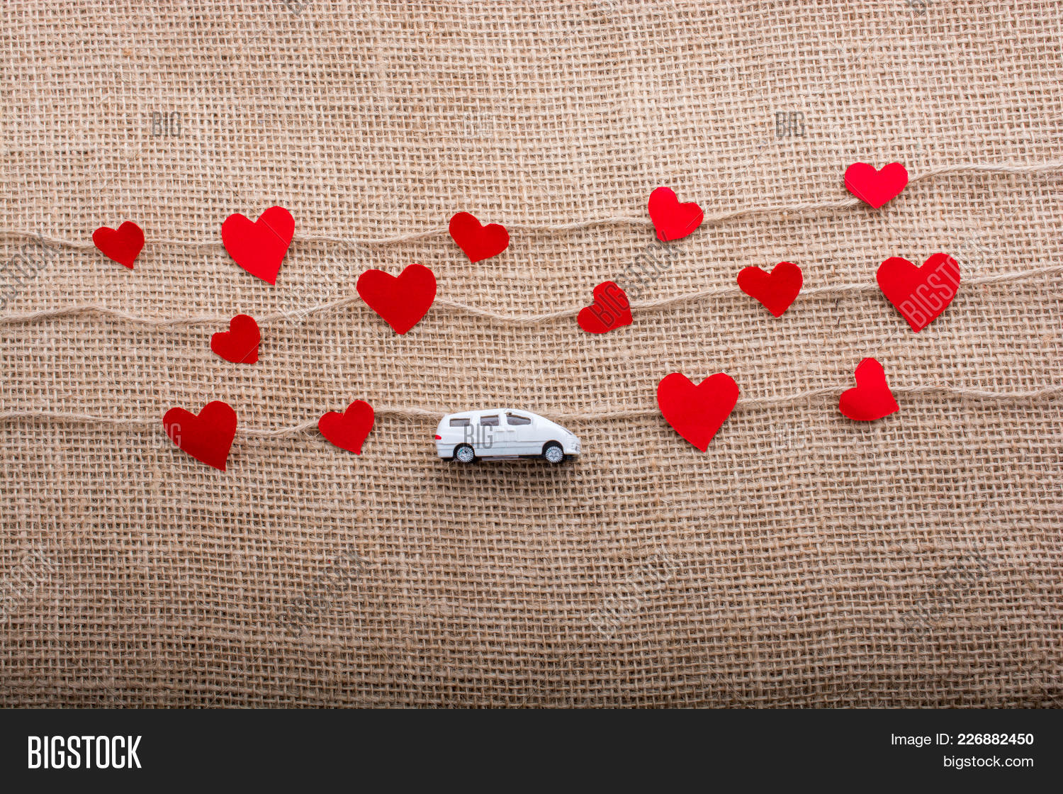 Love Concept With Car Powerpoint Template Love Concept With Car