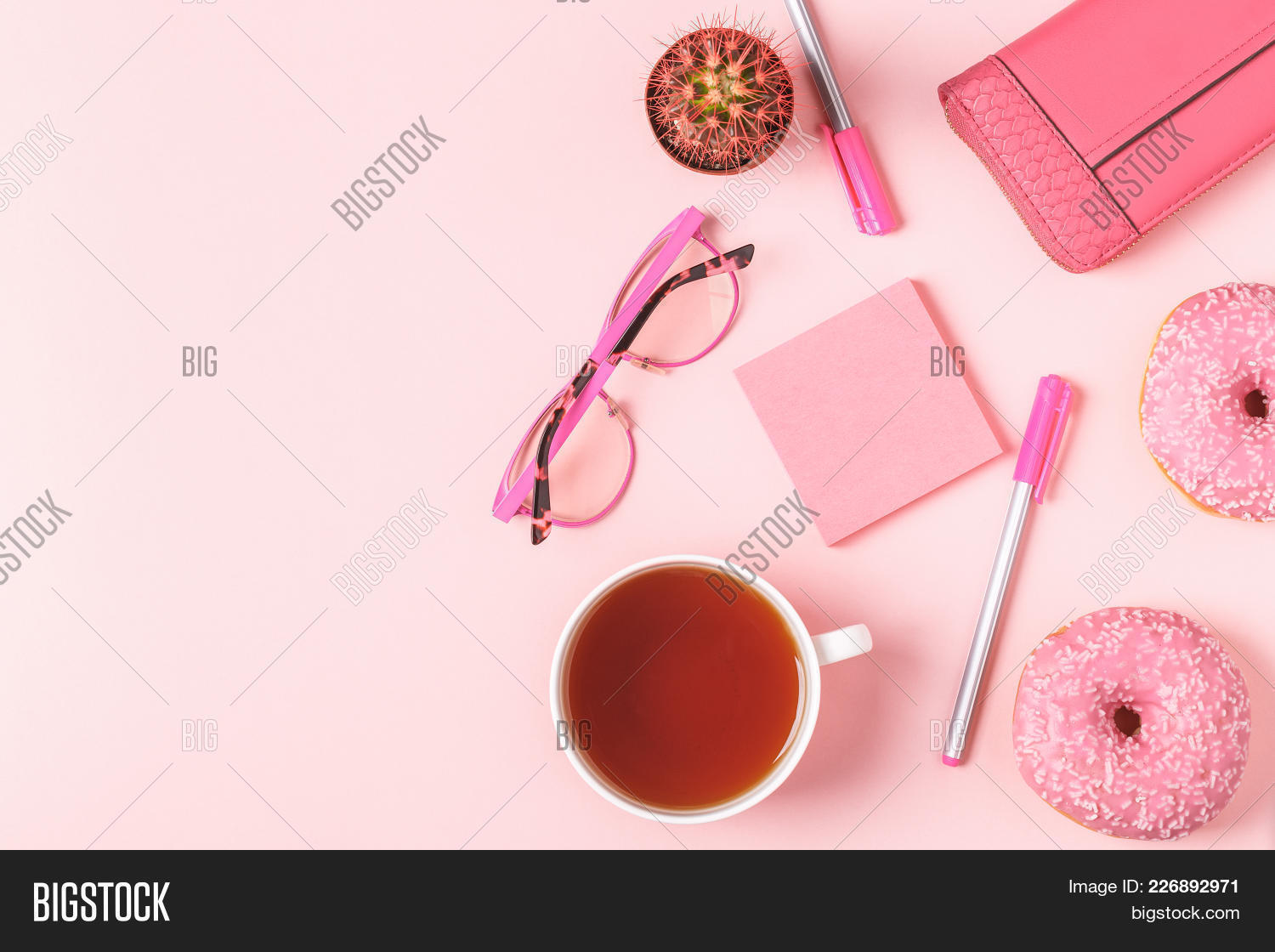 freelancing cup of tea with donuts powerpoint template freelancing