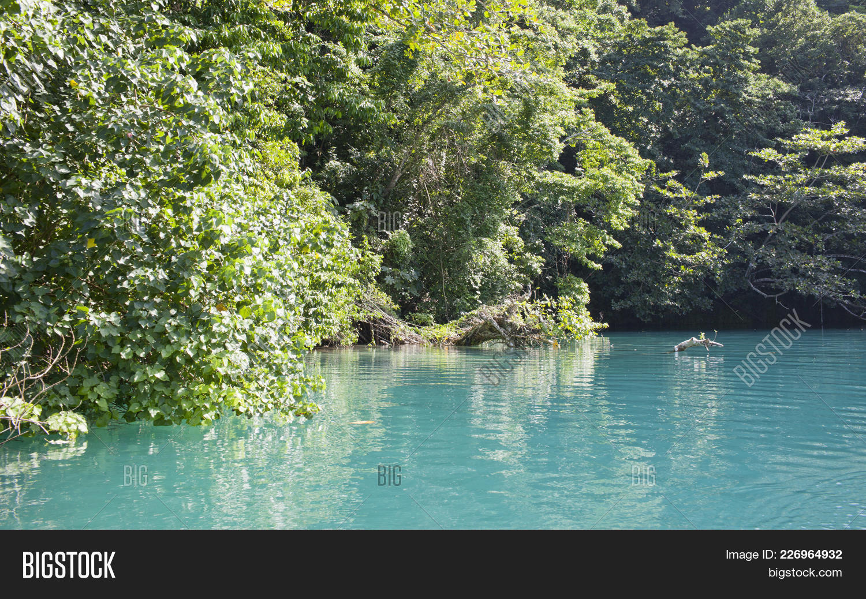 Jamaica Blue Lagoon Image Photo Free Trial Bigstock