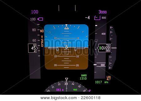 Technology: Airplane Instrument Panel.