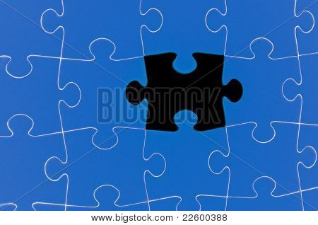 Completing the missing Jigsaw puzzle concept for business / completing the team with final person
