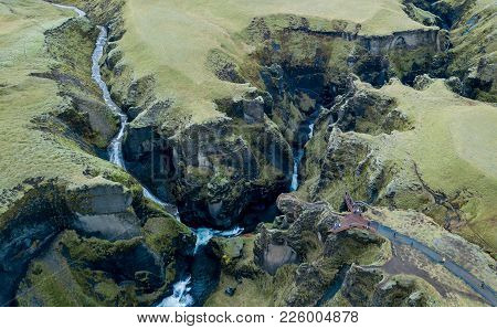 Fjadrargljufur Canyon, Iceland, South Iceland, Green Stunning View One Of The Most Beautiful Canyon