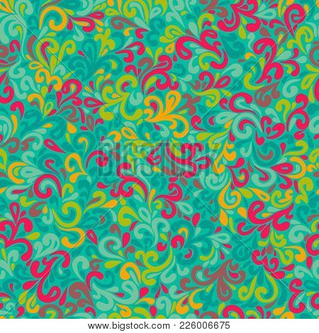 Wavy Doodle Seamless Pattern