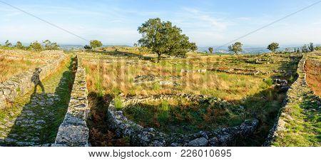 Paços De Ferreira, Portugal - October 19, 2014 : Citânia De Sanfins, Located On A Plateau, In A Summ